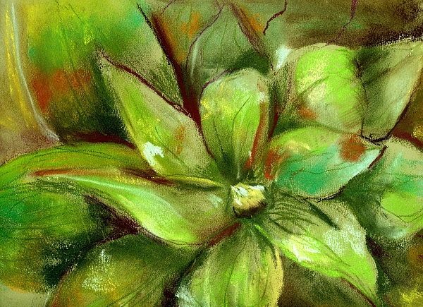 Green Painting - Bright Agave by Marilyn Barton
