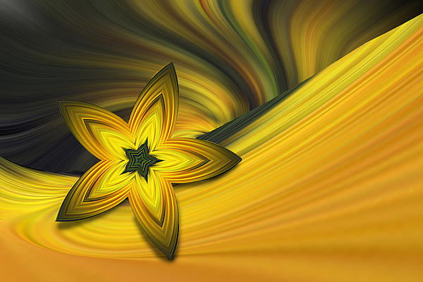 Abstract Photograph - Bright Golden Star by Linda Phelps