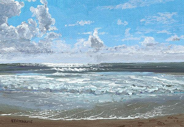 Surf Painting - Bright Morning by Keith Wilkie