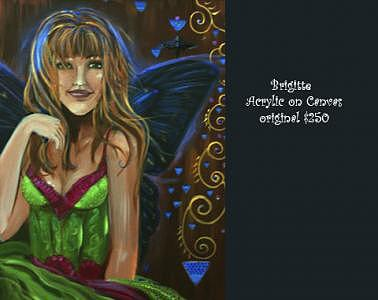 Faerie Painting - Brigitte by Ana M  Berry