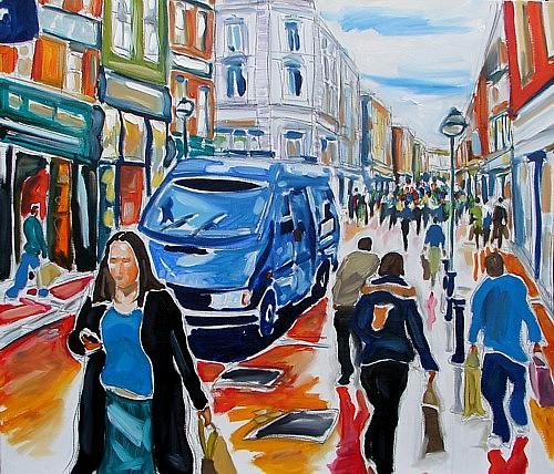 Dublin Painting - Brinks Van by Caoimhghin OCroidheain