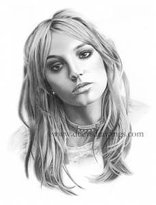 Britney Spears Drawing - Britney Spears Drawing by Brian Duey