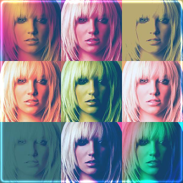 Britney Spears Digital Art - Britney Spears Pastel Warhol By Gbs by Anibal Diaz