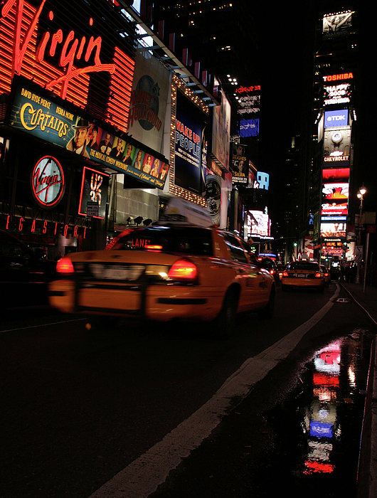 Nyc Photograph - Broadway Lights by Karol Livote