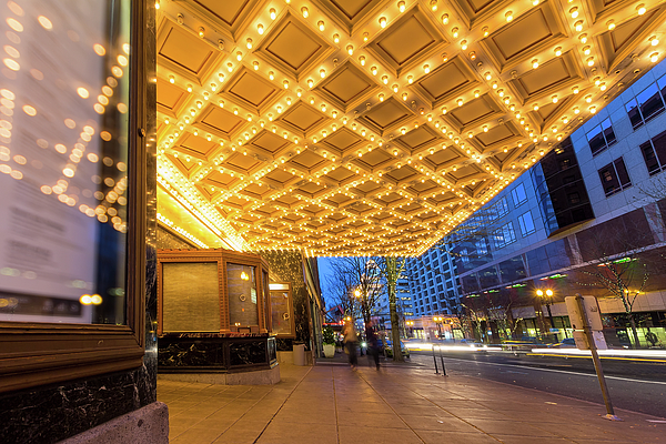 Broadway Photograph - Broadway Theater Marquee Lights In Downtown by David Gn