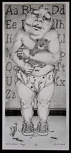 Babies Drawing - Broken Babies 1 Henry by Jasen Workman