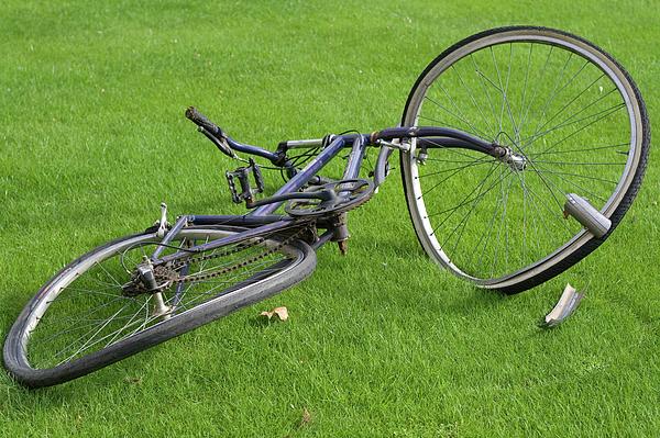 Bike Photograph - Broken Bike by Carl Purcell
