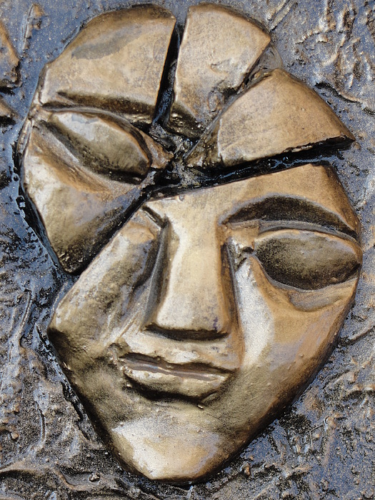 Human Face Relief - Broken Face by Rajesh Chopra
