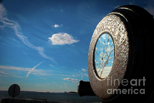Compo Beach Photograph - Broken Reflection  by Victory Designs