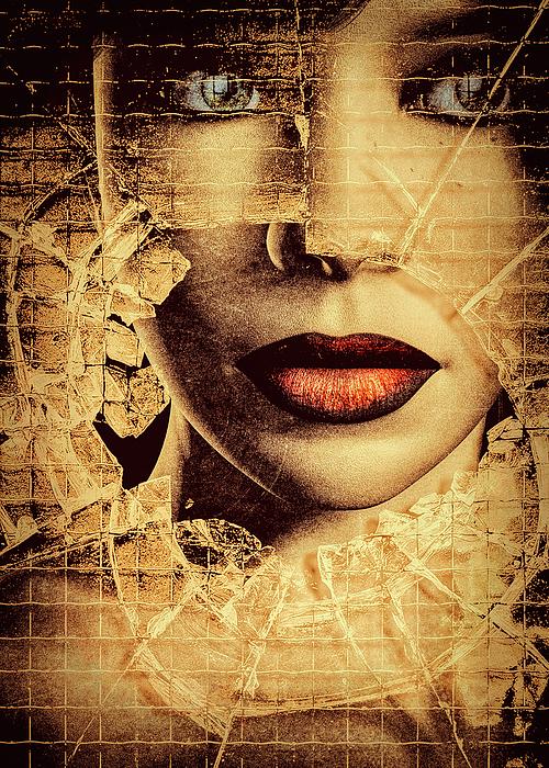 Woman Photograph - Broken Window by Bob Orsillo