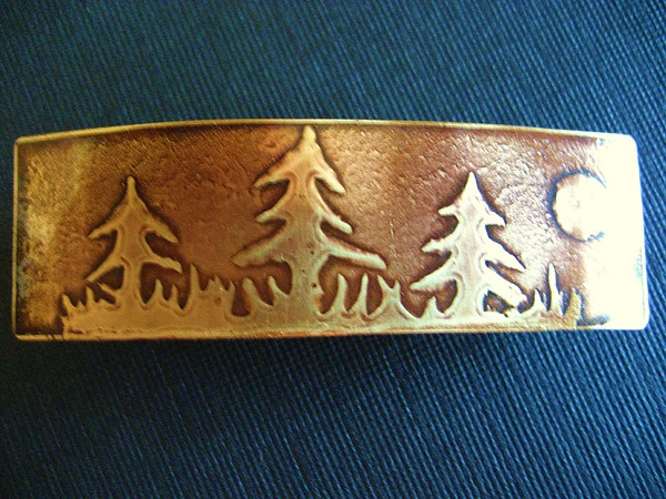Bronze Jewelry - Bronze Barrette by Marilyn Bohanan