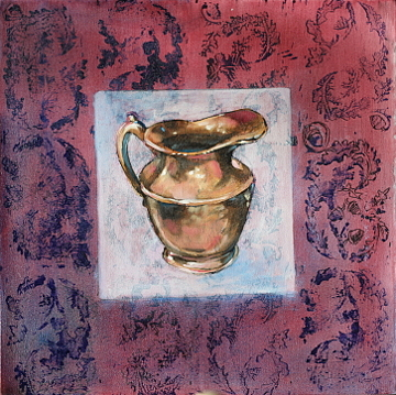 Bronze Painting - Bronze Pitcher by Violet Taylor