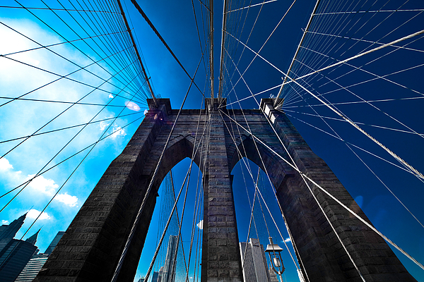 Brooklyn Photograph - Brooklyn Bridge Vertical by Thomas Splietker