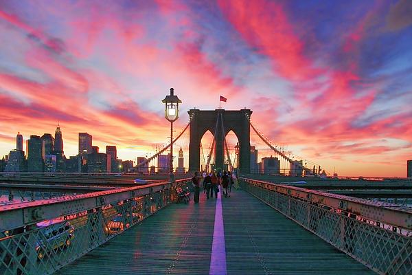 Brooklyn Photograph - Brooklyn Sunset by Rick Berk