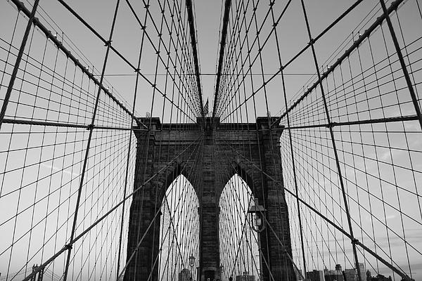 Brooklyn Bridge Photograph - Brooklyns Web by Joshua Francia