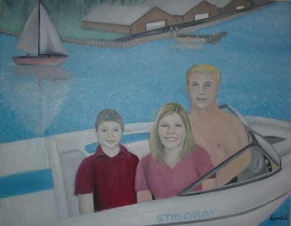 Brothers Boat Painting by Sam  Cole