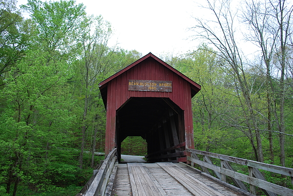 Covered Bridge Photograph - Brown County Covered Bridge by Beverly Cazzell