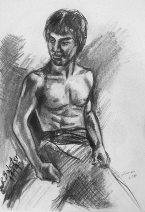 Bruce Lee Drawing - Bruce Lee by Jamey Balester