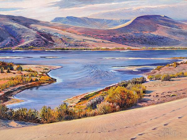 Lake Painting - Bruneau Sand Dunes by Steve Spencer
