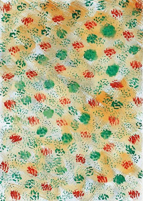 Abstract Painting - Brush Paws by Nyna Niny
