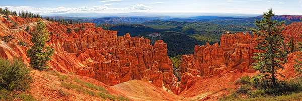 Panoramic Landscape Photograph - Bryce Canyon Panorama by Bob Coates