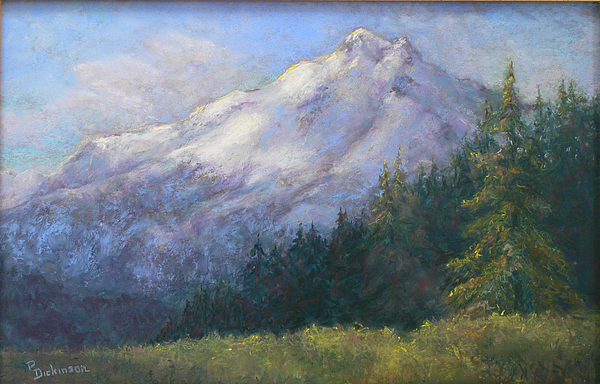 Mountain Landscape Painting - Buck Mountain by Pat Dickensen