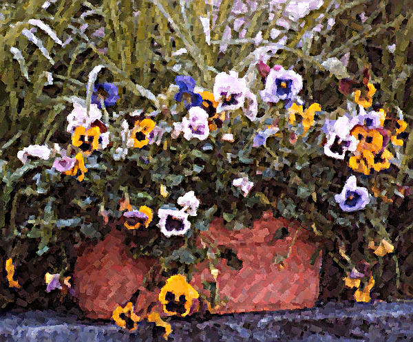 Flowers Photograph - Bucket Of Flowers by Donna Bentley