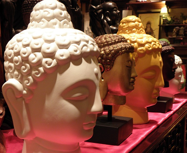 Buddha Photograph - Buddha Heads by Nora Martinez