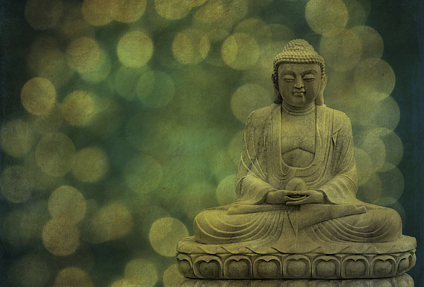 Buddha Photograph - Buddha Light Gold by Hannes Cmarits