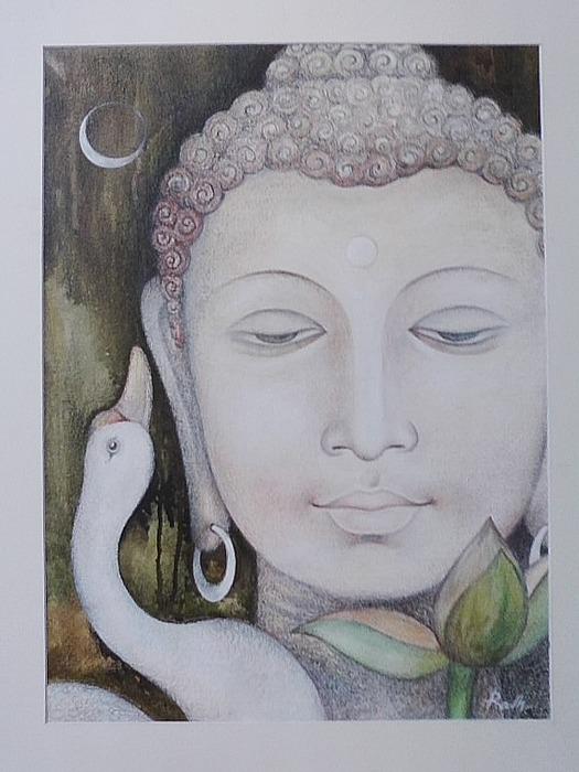 Buddha Painting - Buddha by Rabi narayan Rath