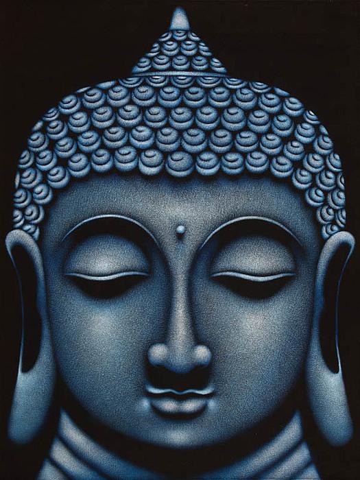 Acrylic Painting - Buddha by Sandikala