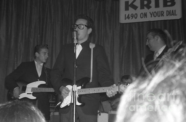 Buddy Holly Photograph - Buddy Holly Onstage At The Surf Ball Room Playing His Last Concert by The Titanic Project