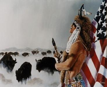 Native American Painting - Buffalo Dreamer by Syndi Michael