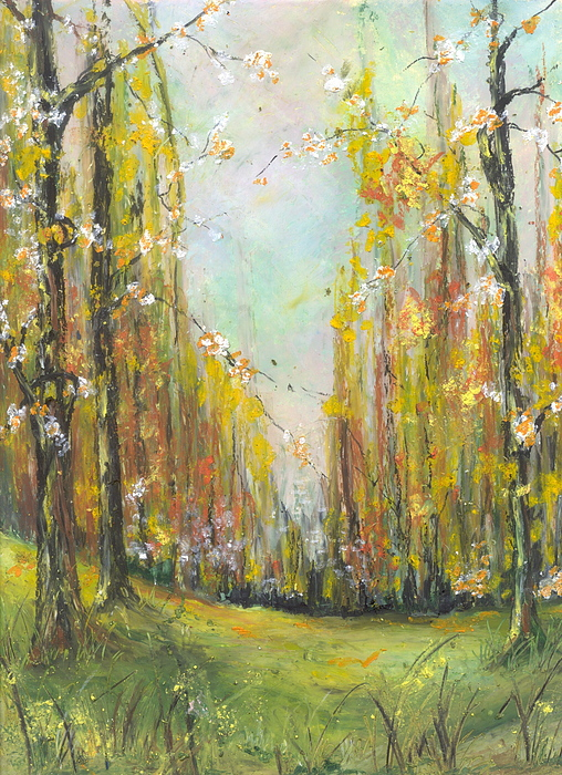 Spring Painting - Buffalo River National Park Study 3 by Robin Miller-Bookhout