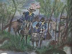 Military Painting - Buffalo Solders by Betty Abrams