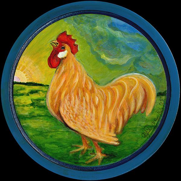Polskie Malarstwo Painting - Buffy The Rooster by Anna Folkartanna Maciejewska-Dyba