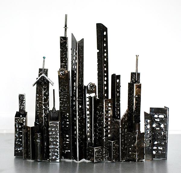 Buildings 3 Sculpture by Don Thibodeaux