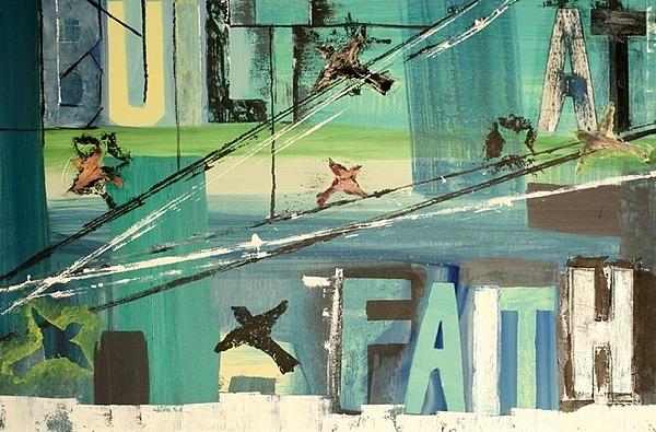 Birds Painting - Built At Faith by Robin Antoinette Breeden
