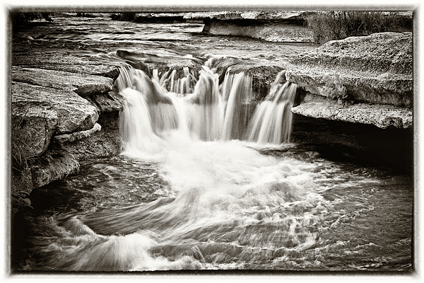Waterfall Photograph - Bull Creek Water Run by Lisa  Spencer