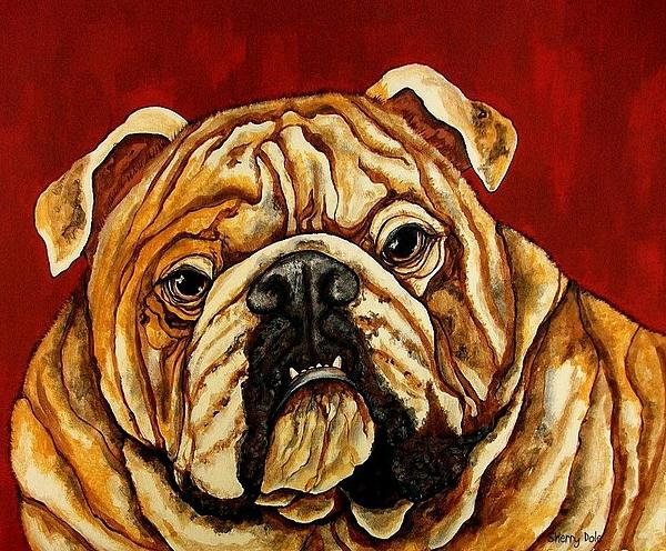 Dog Painting - Bulldog by Sherry Dole