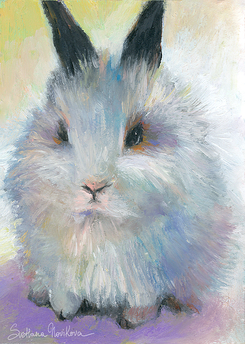 Bunny Painting - Bunny Rabbit Painting by Svetlana Novikova