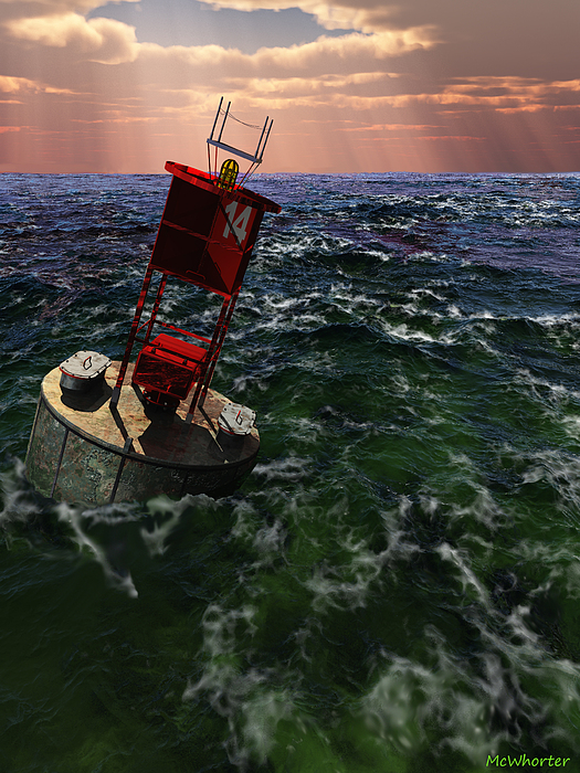 3d Painting - Buoy 14 by Williem McWhorter