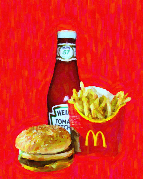 Mcdonald Photograph - Burger Fries And Ketchup by Wingsdomain Art and Photography