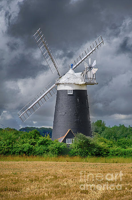 Windmill Photograph - Burnham Overy Mill by Steev Stamford