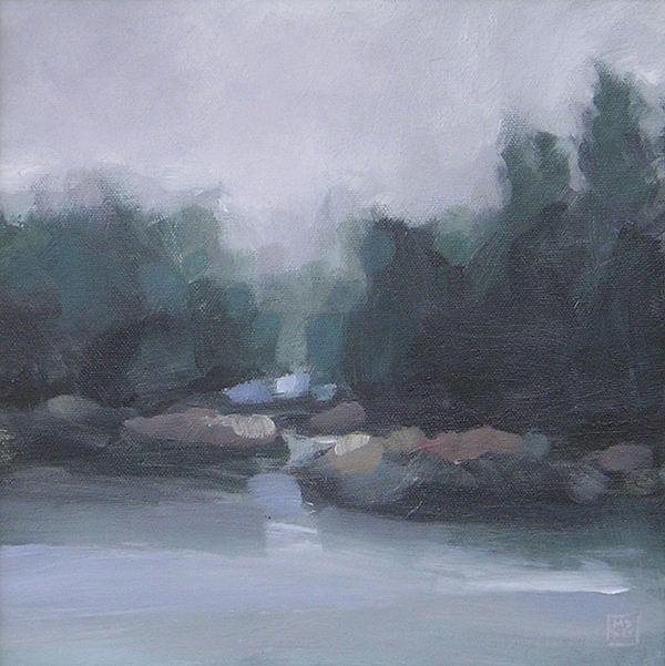 Landscape Painting - Burning Off by Mary Brooking