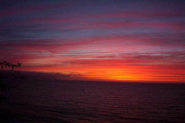Ocean Photograph - Burning Sky 2 by James Johnstone