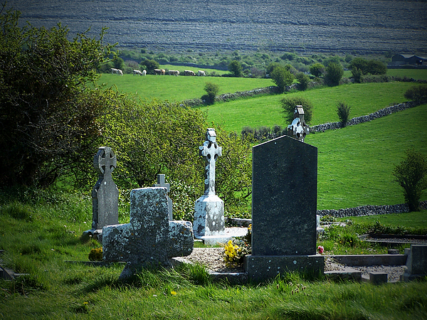 Irish Photograph - Burren Crosses County Clare Ireland by Teresa Mucha