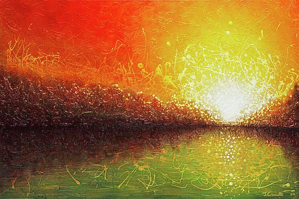 Landscape Painting - Bursting Sun by Jaison Cianelli