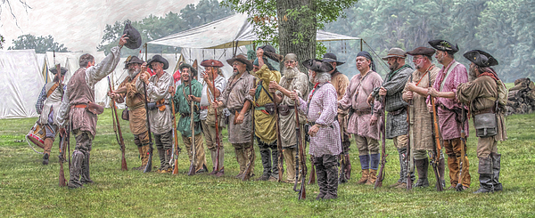 War Digital Art - Bushy Run Milita Camp Roll Call by Randy Steele