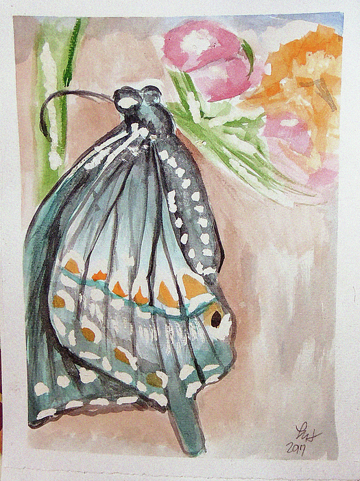 Butterfly 4 Painting by Loretta Nash
